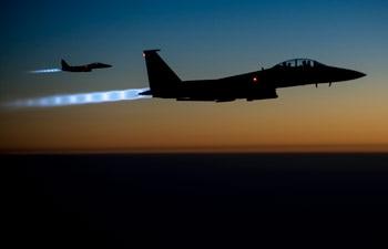 A pair of US Air Force F-15E Strike Eagles