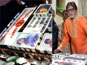 Big B celebrates birthday with media