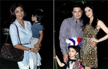 Shilpa Shetty's son Vivaan, Sanjay Dutt's kids