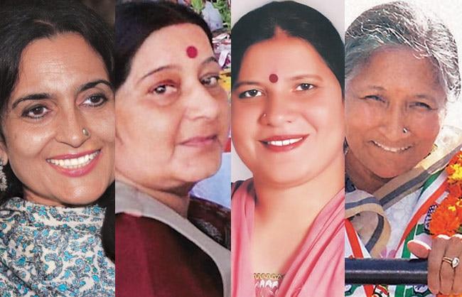 Sunita Choudhary, Sushma Swaraj, Geeta Bhukkal, Savitri Jindal