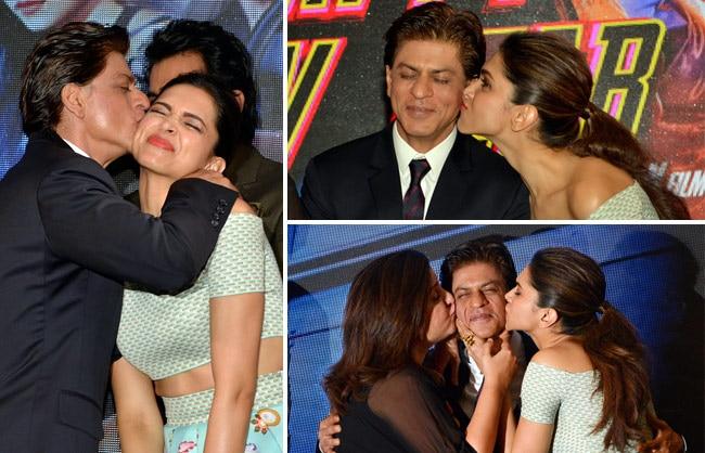Shah Rukh Khan, Deepika Padukone and Farah Khan