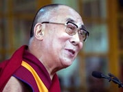 Dalai Lama at an event marking his Nobel Peace Prize
