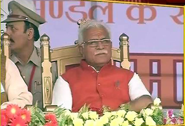 Manohar Lal Khattar, first-time MLA from Karnal and a non-Jat leader close to Prime Minister Narendra Modi, was sworn in as Haryana Chief Minister on Sunday, along with nine ministers by Governor Kaptan Singh Solanki at an oath-taking function held at Pan