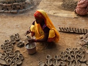 Potters burn midnight oil to make earthen lamps