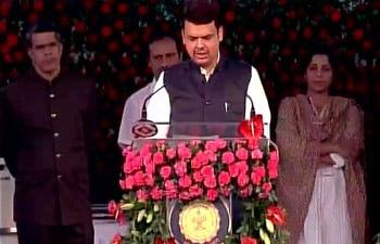 Swearing-in ceremony of Devendra Fadnavis