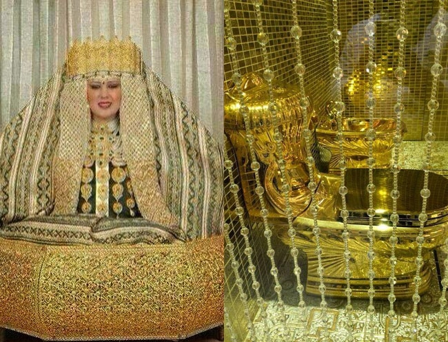 Royal family gifts gold toilet