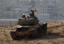 ISIS seizes large areas of Syrian town despite air strikes