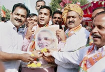 Election results 2014: BJP supporters celebrate victory