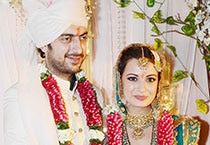 In pics: Dia Mirza ties the knot with Sahil Sangha