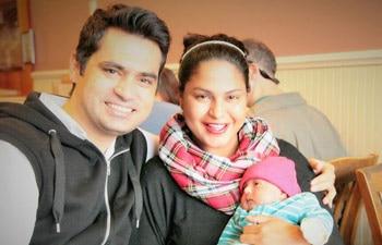 Asad, Veena and Abram