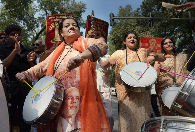 Eelections results 2014, BJP supporters, Haryana Assembly elections
