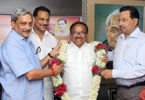 Laxmikant Parsekar taking charge as Goa's new Chief Minister