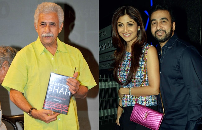 Naseeruddin Shah launches his memoir, Shilpa Shetty enjoys a night out with hubby