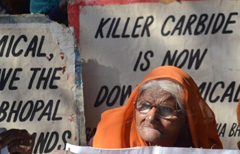 Bhopal gas tragedy protests