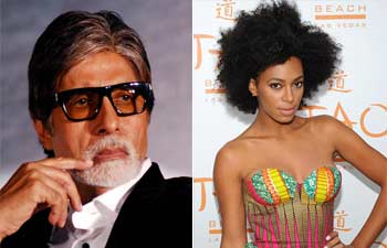 Amitabh Bachchan and Solange Knowles