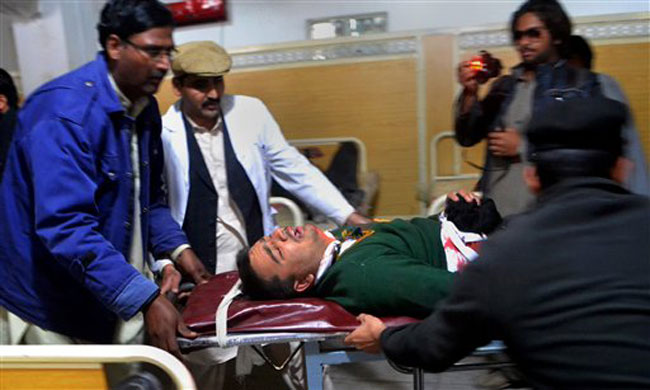 A student injured in the Taliban attack in Peshawar