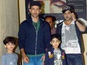 Hrithik Roshan's outing with kiddos Hrehaan and Hridhaan
