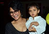 Aamir Khan and wife Kiran celebrate son Azad's third birthday