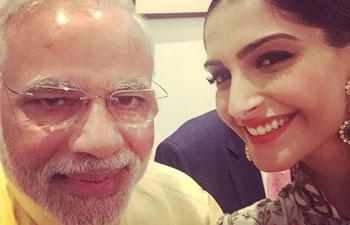 Sonam Kapoor, Narendra Modi