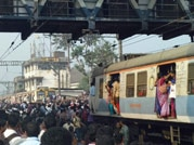 Commuters went on rampage after train services were hit in Mumbai