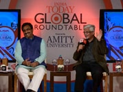 Ram Madhav, Sanjay Baru and Robinder Sachdeva