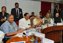 An all party meeting was held in Delhi on Sunday ahead of the Budget Session that begins on Monday.
