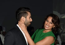 Just like old times: Shahid, Sonakshi catch up at BMW car launch