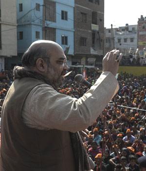 Amit shah campaigning