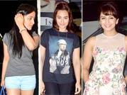 Yami, Sonakshi, Huma and Sonal don casuals for Badlapur screening