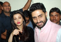 Family affair: Bachchans turn up to watch Big B's Shamitabh