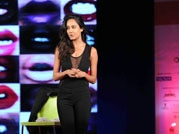 Lisa Haydon with Koel Puri at India Today Conclave 2015.