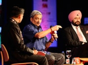 Manohar Parikar and Gen Vikram Singh discussing the issues India armed forces at India Today Conclave 2015.