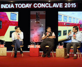 Suresh Prabhu, Nitin Gadkari, and Arvind Subramanian discuss the Economics of Politics with Rahul Kanwal at India Today Conclave 2015.