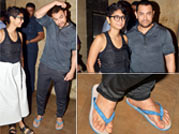 Casual clothing and bathroom chappals: Aamir's not so perfect look