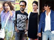 Celeb spotting: SRK limps at the aiport, Emraan promotes Mr. X