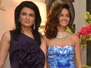 Arpita Khan, Evelyn Sharma and Shibani Dandekar at Bridal Asia preview