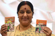 Sushma releases report on 1 year of Modi govt
