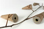 This artist creates amazing artwork with brittle leaves