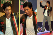 SRK shows off his boyish charm at launch event