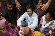 Rahul Gandhi meets sanitation workers in Delhi