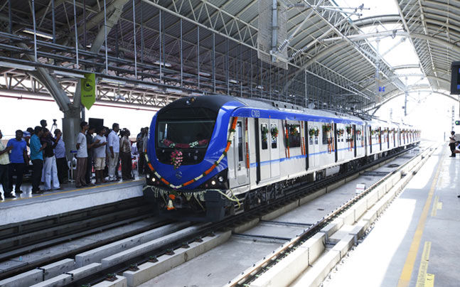 Chennai's first Metro train
