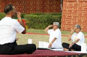 Politicians take to asanas on International Yoga Day