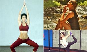 Celebrity yoga fans