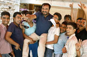 Bihar's Super 30 founder Anand Kumar celebrates with students
