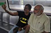 Modi in Faridabad: See how PM Modi travels with the aam aadmi