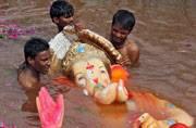 Devotees bid farewell to Lord Ganesha