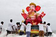 Bidding farewell to lord Ganesha for this year