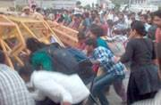Students protesting discontinuation of NET, lathicharged