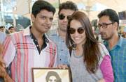 Celeb Spotting: Shraddha Kapoor receives a painting from a fan, Rana Daggubati heads home for a weekend