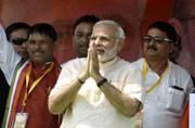 In Pics: Narendra Modi addressing a rally in Begusarai